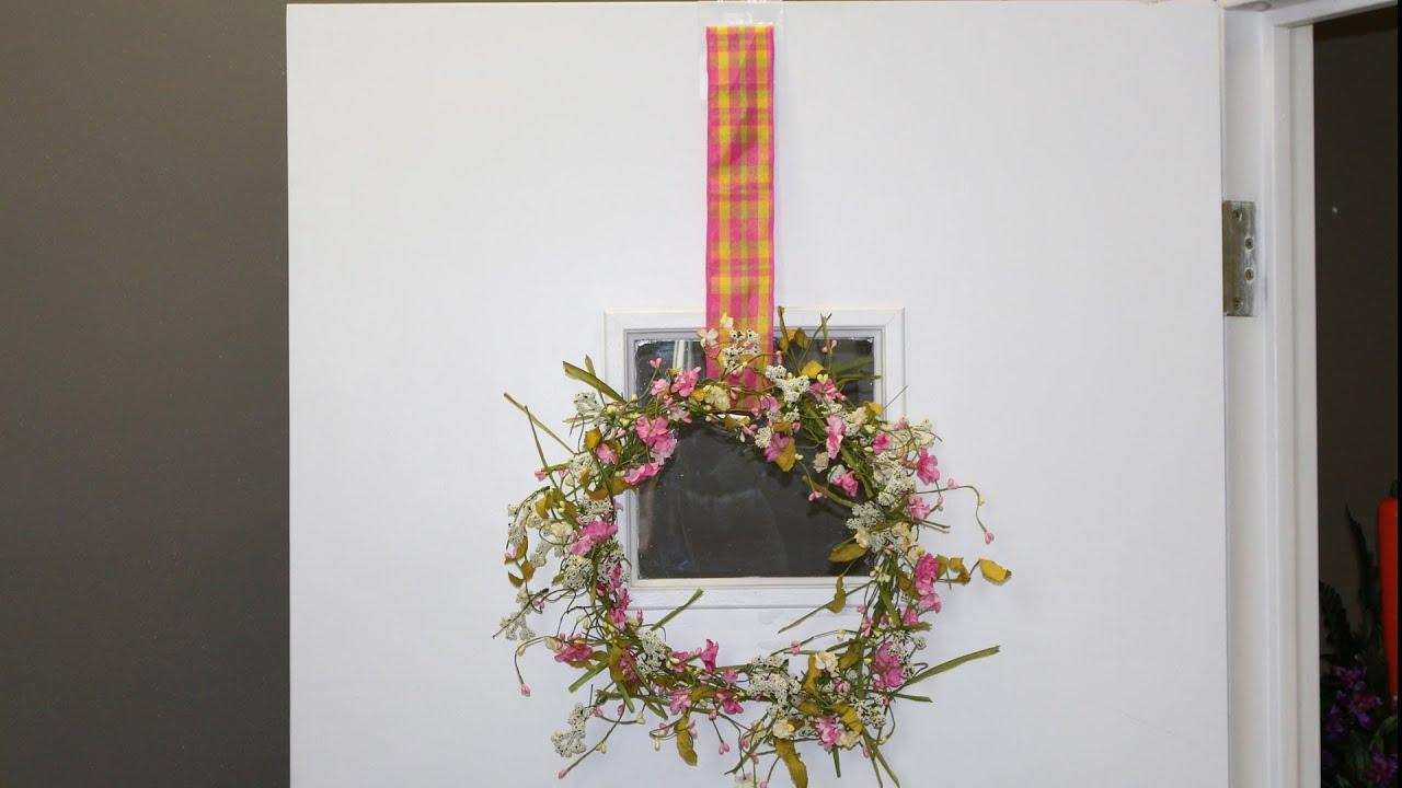 Door Amp Window Ribbon Wreath Hanger How To Youtube