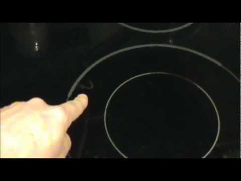how to clean or fix a glass stove top or range youtube. Black Bedroom Furniture Sets. Home Design Ideas