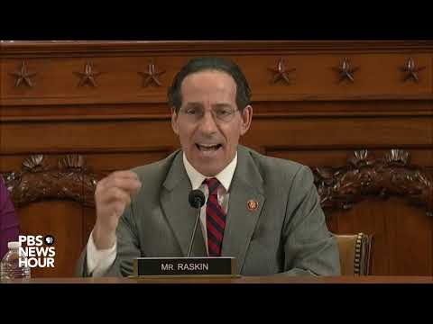 WATCH: Rep. Raskin argues Trump abused his power as committee considers articles of impeachment