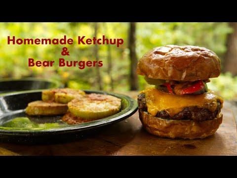 Homemade Ketchup, Bear Burgers, Fried Green Tomatoes and Bear Sloppy Joes