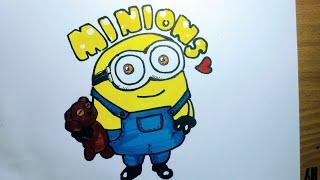 미니언즈그리기!!//drawing minions!!#귀여운#캐릭터