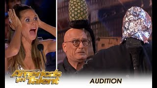 Aaron Crow Nearly KILLS Howie Mandel In EXTREME Danger Act! | America's Got Talent 2018