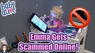 Baby Alive Emma Gets Scammed Online! Internet Safety! | Kelli Maple