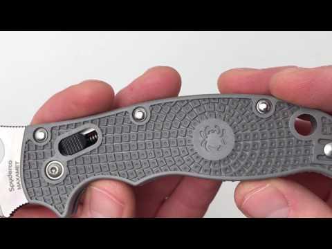 Spyderco Manix 2 Gray Maxamet