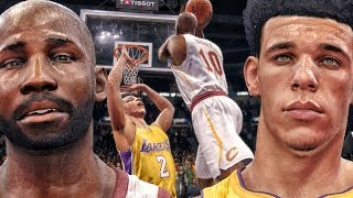 CRAZY GAME VS LONZO BALL & SHOWTIME LAKERS! NBA Live 18 The One Career Gameplay