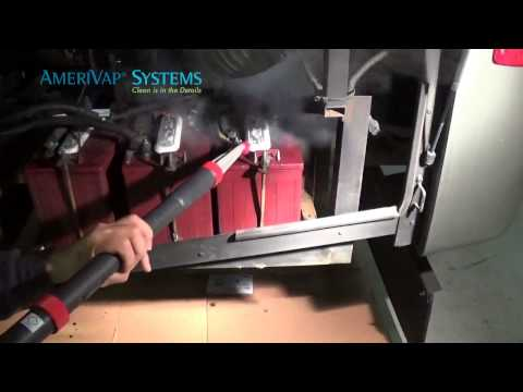 Cleaning RV Batteries with Dry Steam