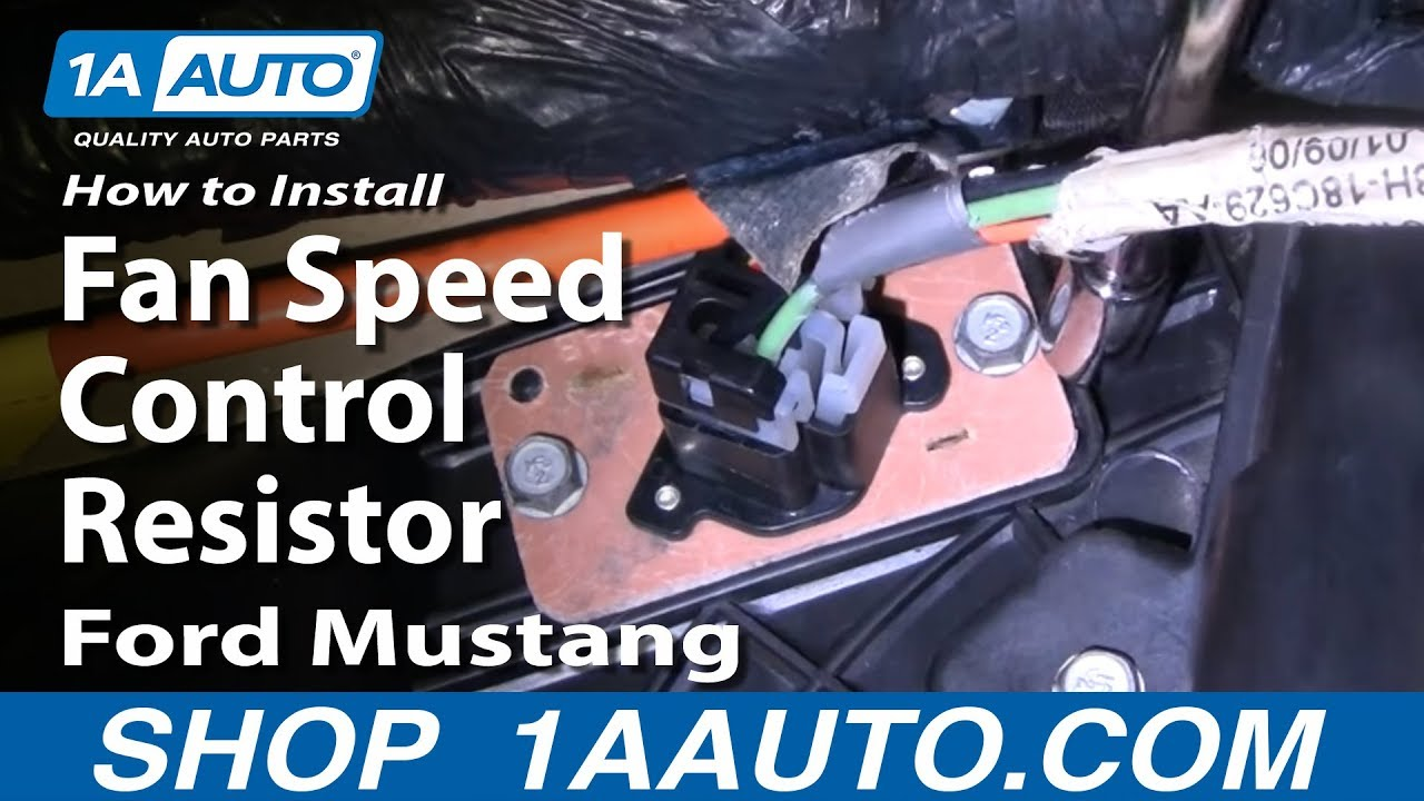 How To Install Replace Fan Speed Control Resistor Ford