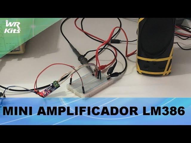 MINI AMPLIFICADOR DE ÁUDIO LM386 500mW