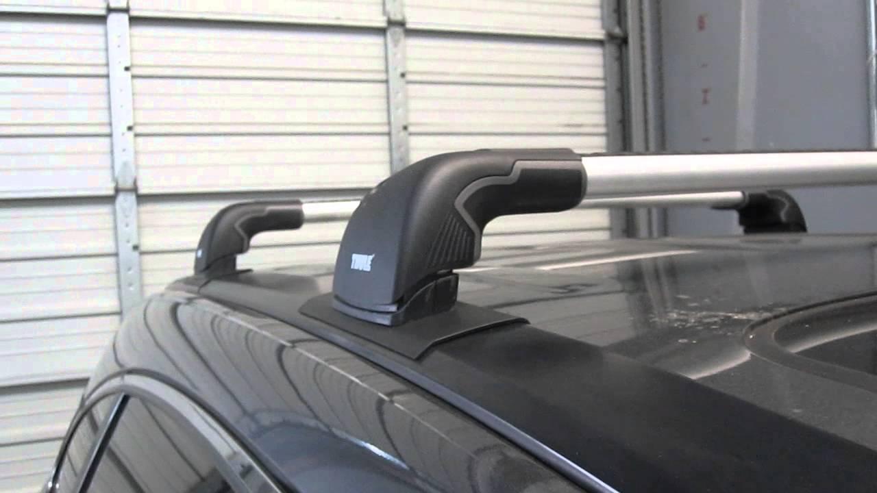 Thule Aeroblade Edge >> Honda CR-V 2007 thru 2012 with Thule AeroBlade EDGE roof rack by Rack Outfitters - YouTube