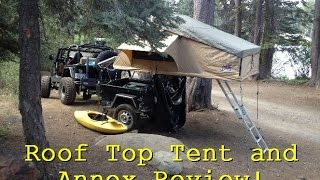 Vehicle Roof Top Tent Review! Tuff Stuff Overland With Annex