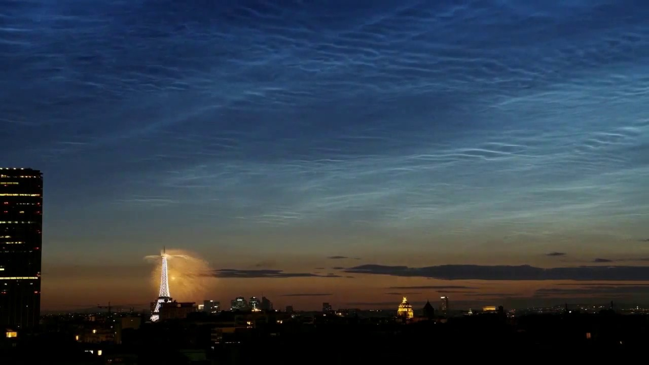 Noctilucent Clouds over Paris Fireworks (2018-07-10) 8