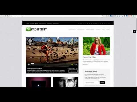 WP-Prosperity WordPress Theme - Header & Navigation Customization Options