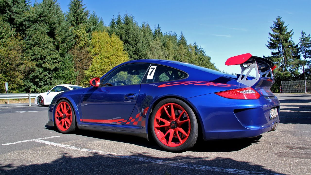 Car Max Near Me >> Blue/Red Porsche 997.2 GT3 RS at the Nurburgring! - YouTube