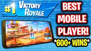 BEST FORTNITE MOBILE PLAYER CARRIES ME ON PC! (HE HAS 600 WINS)