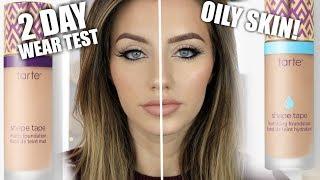 NEW TARTE SHAPE TAPE FOUNDATION REVIEW+WEAR TEST | Oily Skin | Jazzi Filipek