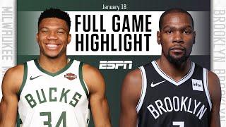 Milwaukee Bucks vs. Brooklyn Nets [FULL GAME HIGHLIGHTS]   NBA on ESPN