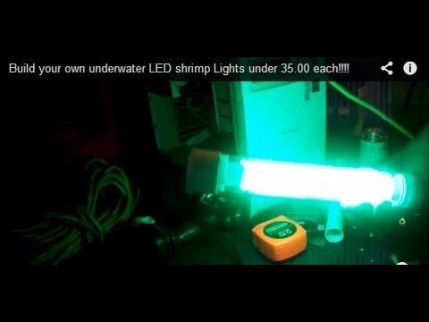 Underwater Fishing Lights Attract Monster Fish Green Dock