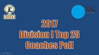 2017 USA Today Sports/NFCA Division I Top 25 — Feb. 14