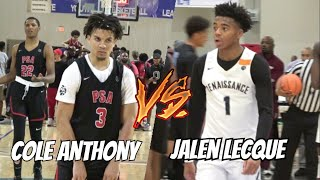 Cole Anthony vs Jalen Lecque | EPIC pg Matchup Full Highlights EYBL Session 3 Atlanta