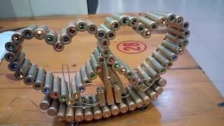 Trái tim vỏ đạn có đèn led - Hướng dẫn làm trái tim vỏ đạn, đồ thủ công, xe tăng vỏ đạn