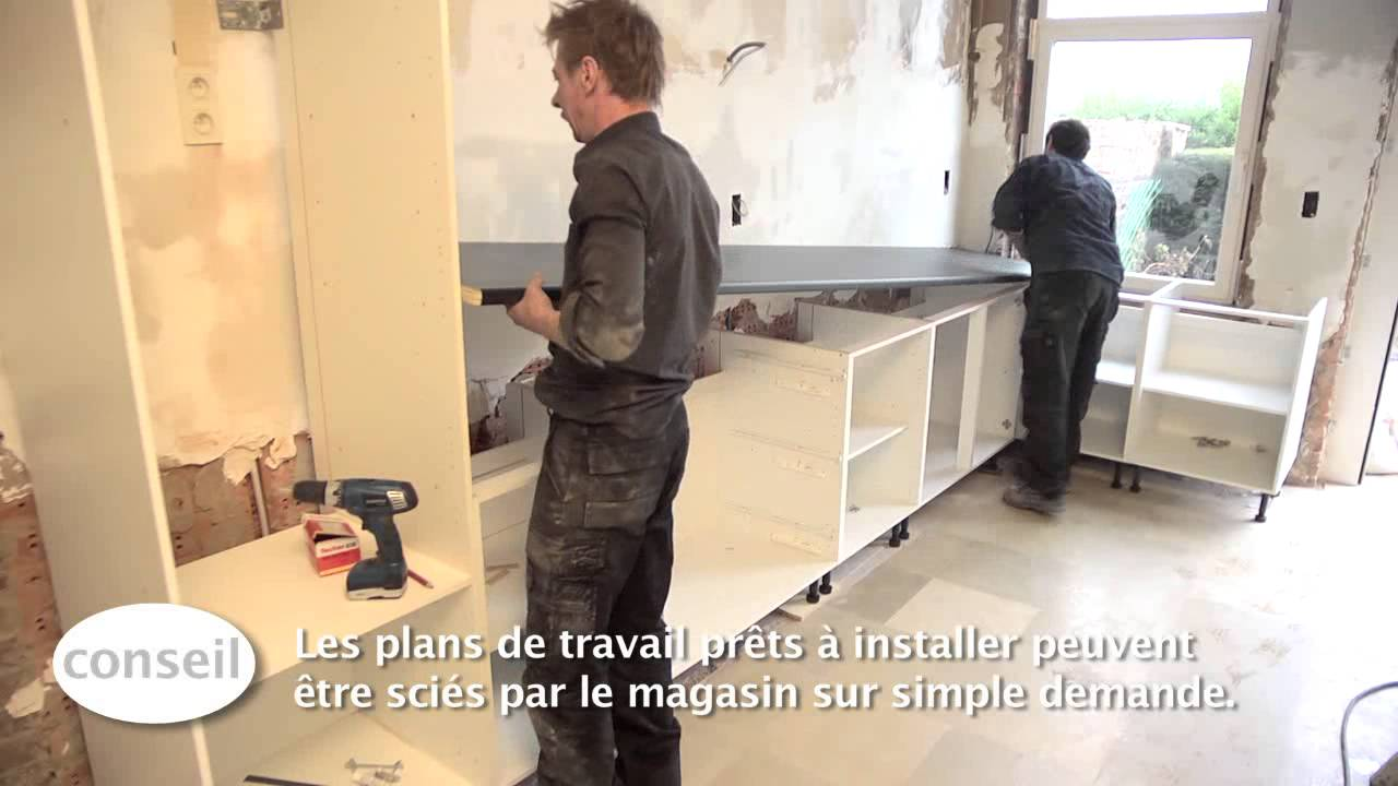 installer une cuisine et un plan de travail vid o bricolage gamma youtube. Black Bedroom Furniture Sets. Home Design Ideas