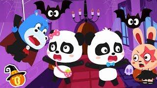 Baby Panda's Halloween Night   Halloween Cartoon   Halloween Makeup   Halloween Songs   BabyBus