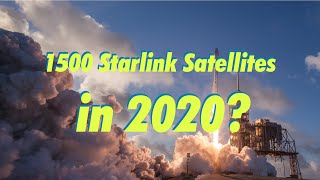 What does it mean to have 24 Starlink Launches in 2020?