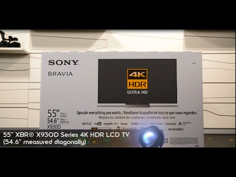 Unboxing The New Slim XBR X930D Series (4K HDR LCD TV )