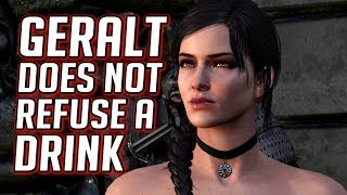 Witcher 3: Geralt Breaks His Promise to Not Drink (Yennefer is Annoyed)