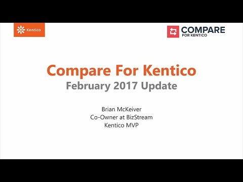 Technology Partnership Webinar: Compare for Kentico Update