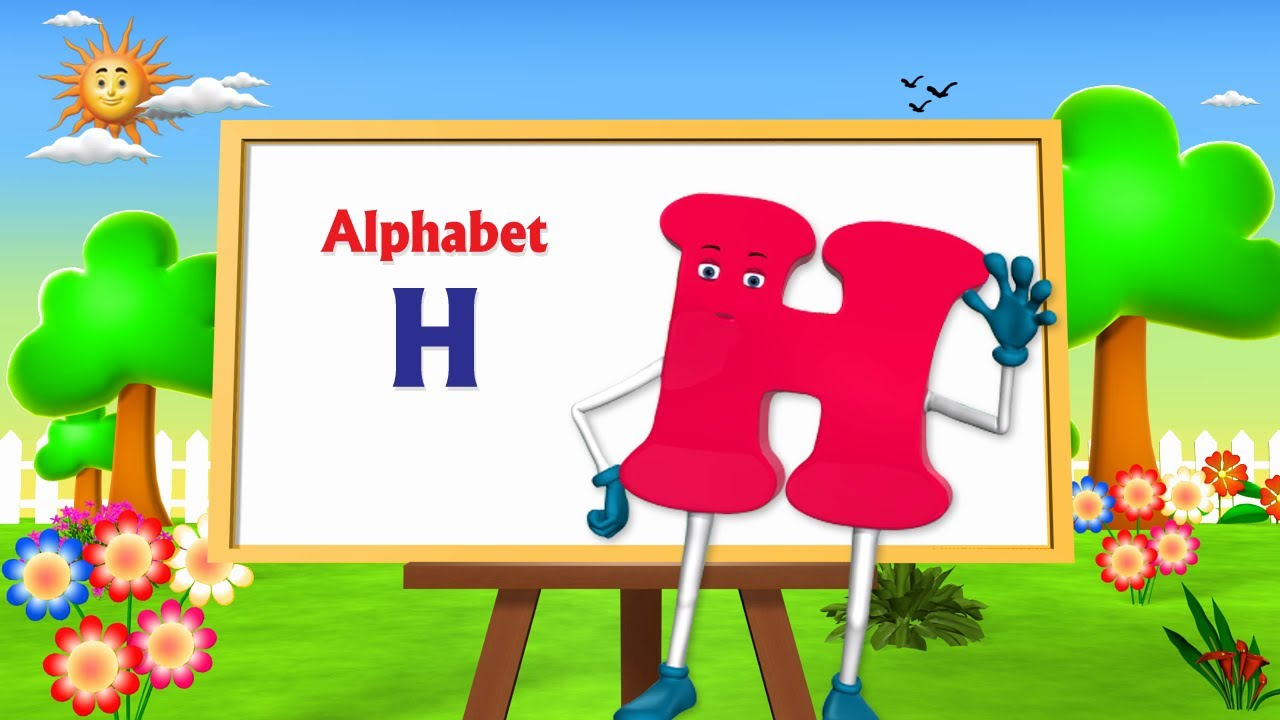 letter h song letter h song 3d animation learning alphabet abc 648