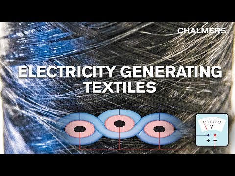 Electricity generating textiles