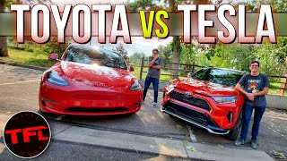 Is The 2021 Toyota RAV4 Prime BETTER Than The Tesla Model Y? It's Closer Than You Might Think!