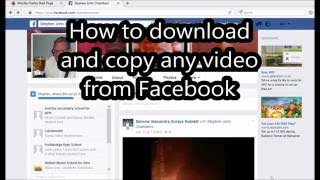How to copy & download any video from Facebook - YouTube