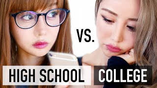 High School vs. College Makeup Routine ♥ Beginners Tutorial ♥ Wengie