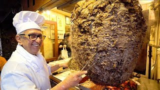 KEBAB KING of TURKEY - ISTANBUL Street Food : World's BIGGEST Döner Kebab | TURKISH STREET FOOD 2019