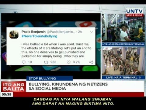 Bullying kinundena ng mga netizens sa social media