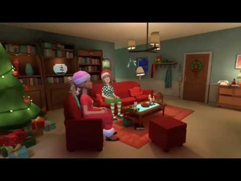 Plotagon - Christmas knitting