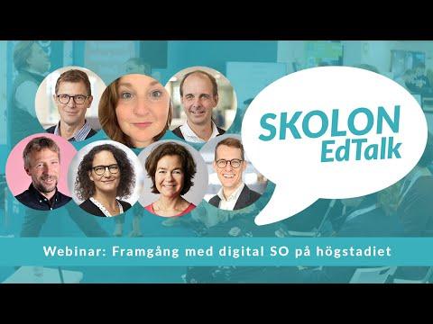 WEBINAR: Skolon EdTalk - Framgång med digital SO på högstadiet