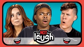 YouTubers React To Try To Watch This Without Laughing Or Grinning #29