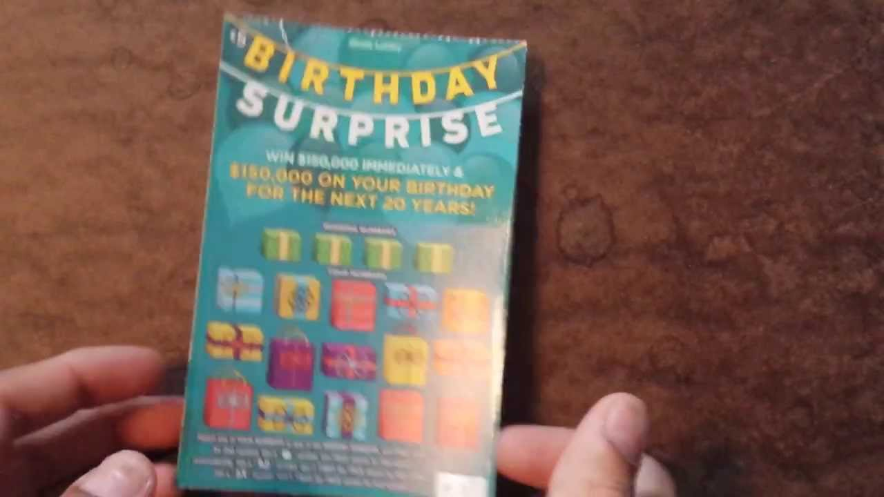 """**NEW** Illinois Lottery """"Birthday Surprise"""" Scratch Off"""