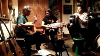 Steafan & Saskia (and Clan Hannigan) - Bodhrans, Nyckelharpa, fiddle and tambourines - trio