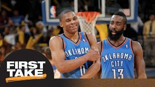 Did Thunder make a mistake trading James Harden and keeping Russell Westbrook?   First Take   ESPN