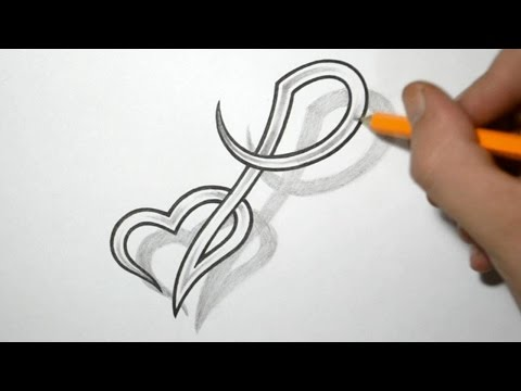 Heart Tattoo Designs With Letters Designing Letter p And Heart