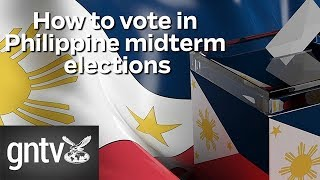 How to vote in Philippine midterm elections