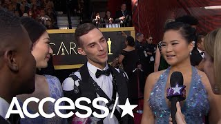2018 Oscars: Adam Rippon & Mirai Nagasu Freak Out Meeting 'Star Wars'' Kelly Marie Tran | Access
