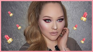 FULL FACE USING ONLY LIQUID LIPSTICKS Challenge | NikkieTutorials