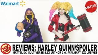 Toy Shiz REVIEWS: Mattel Dc Multiverse: Walmart EXCL. HARLEY QUINN and THE SPOILER