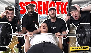 Team ALBOE Bench Press Strength Test!! Who Is The STRONGEST?