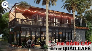 SAH - THIẾT KẾ QUÁN COFFE NHỎ HIỆN ĐẠI ĐẸP MẮT - Cafe store 3D design idea.